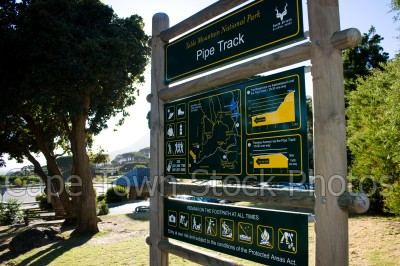 table mountain,signs,hiking,pipe track