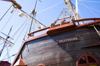 Jolly Roger pirate ship [1001235807]