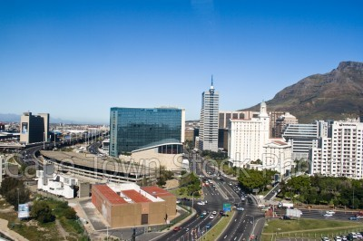 city,devil's peak,buildings,cticc