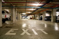 Concrete basement parking exit [1101040191]
