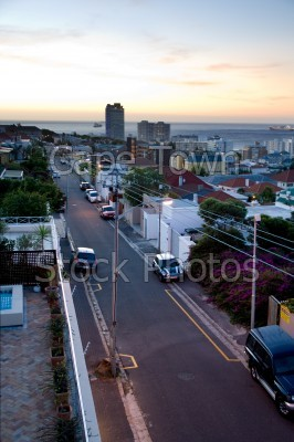sunset,green point,roads
