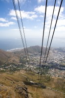 Ascending Table Mountain in cable car [1103262945]