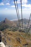 Ascending Table Mountain in cable car [1103262951]
