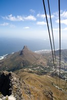 Ascending Table Mountain in cable car [1103262956]