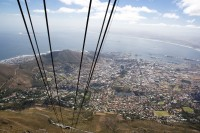 Ascending Table Mountain in cable car [1103262959]