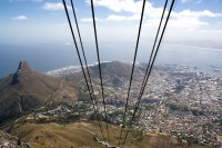 Ascending Table Mountain in cable car [1103262962]