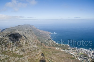 sea,table mountain,twelve apostles,atlantic ocean