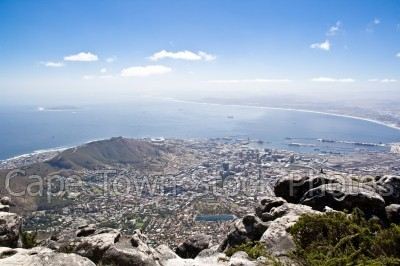 city,signal hill,sea,table mountain,table bay