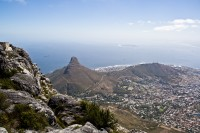 Overlooking Cape Town from Table Mountain [1103263014]
