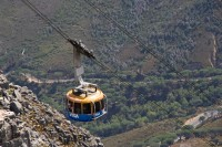 Cable car ascending the cableway [1103263056]