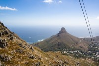 Ascending the cableway [1103263080]