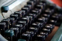 Old typewriter keyboard [1106176143]