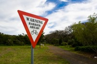 Triangular warning sign [1108077542]