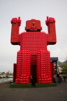Red Coca-Cola man at the V&A Waterfront [1108290269]