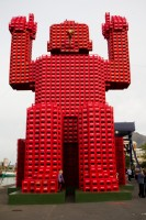 Red Coca-Cola man at the V&A Waterfront [1108290270]