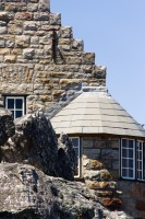 Stone building on top of Table Mountain [1108290765]