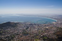 Table Bay and the city from Table Mountain [1108290819]