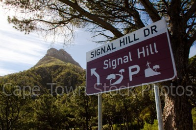 signal hill,lions head,road signs