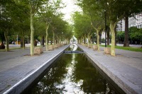 Water canal in Adderley Street Cape Town [1111191531]
