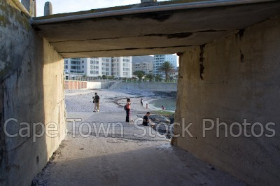 bridge,beach,people,sea point,three anchor bay