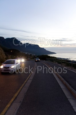 camps bay,cars,night,roads
