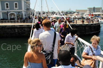 v&a waterfront,bridge,people