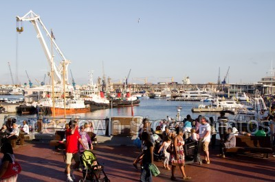 v&a waterfront,people