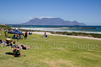sea,beach,people,table mountain,big bay,tanning