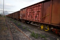 Perspective of a cargo train [1201215072]