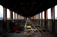 Inside a dilapidated train [1201215095]