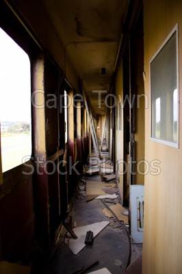dilapidated,train
