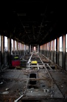 Inside a dilapidated train [1201215106]