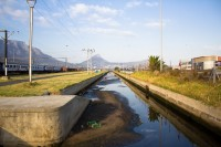 Dirty concrete canal [1201215174]