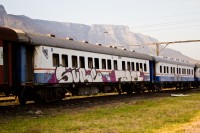 Train with graffiti [1201215176]