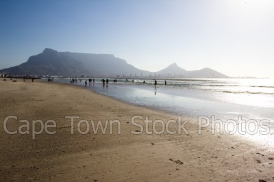 beach,people,table mountain