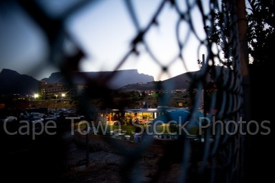 table mountain,fence