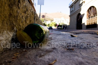 bottle,beer,gutter