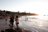 People on Clifton 4th beach at sunset [1202185918]