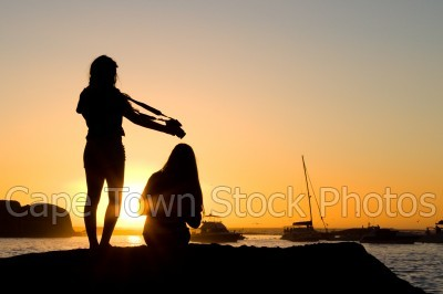 boat,people,sunset,woman,silhouette,yacht,camera,girls
