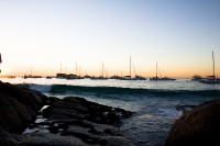 Yachts at Clifton 4th beach at sunset [1202185939]