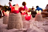 Sand castles on the beach [1202185996]