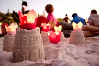 Sand castles on the beach [1202185997]