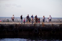 People standing on a pier[1203046103]
