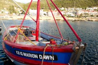 Boat called Marion Dawn at Kalk Bay [1203046107]
