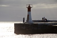 Lighthouse at Kalk Bay harbour's entrance [1203046120]