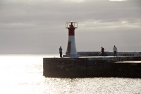 Lighthouse at Kalk Bay harbour's entrance [1203046124]