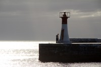 Lighthouse at Kalk Bay harbour's entrance [1203046131]