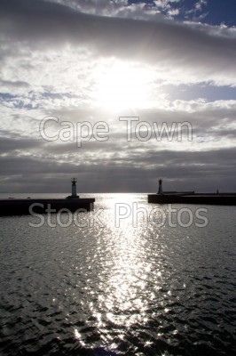 harbour,cloud,kalk bay,sun,lighthouse,sunrise,sunset