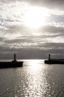Lighthouses at Kalk Bay harbour's entrance [1203046136]