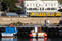 Trains and boats in Kalk Bay [1203046183]